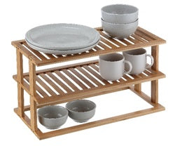 Rectangle Shelf 2 Tier Bamboo