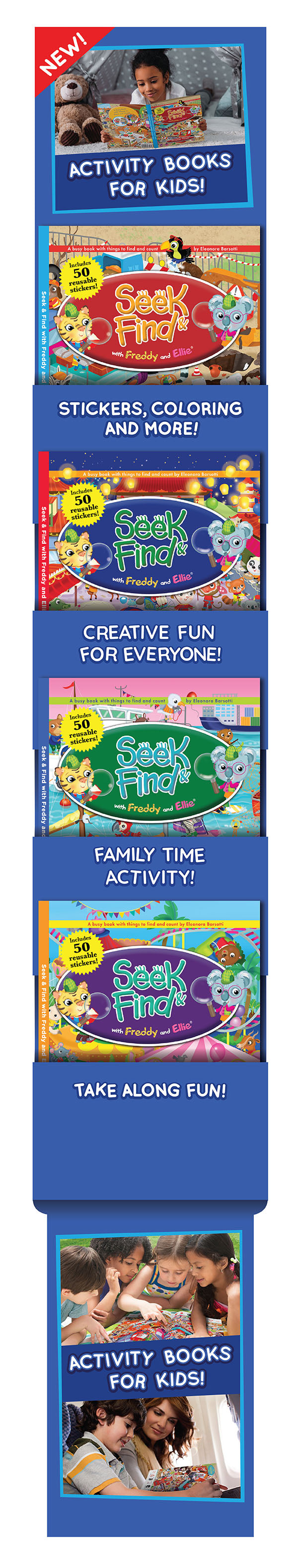 Book Display - Activity Books for Kids