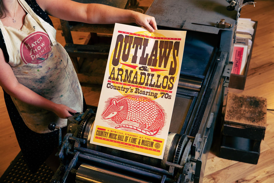Outlaws & Armadillos Exhibit Poster
