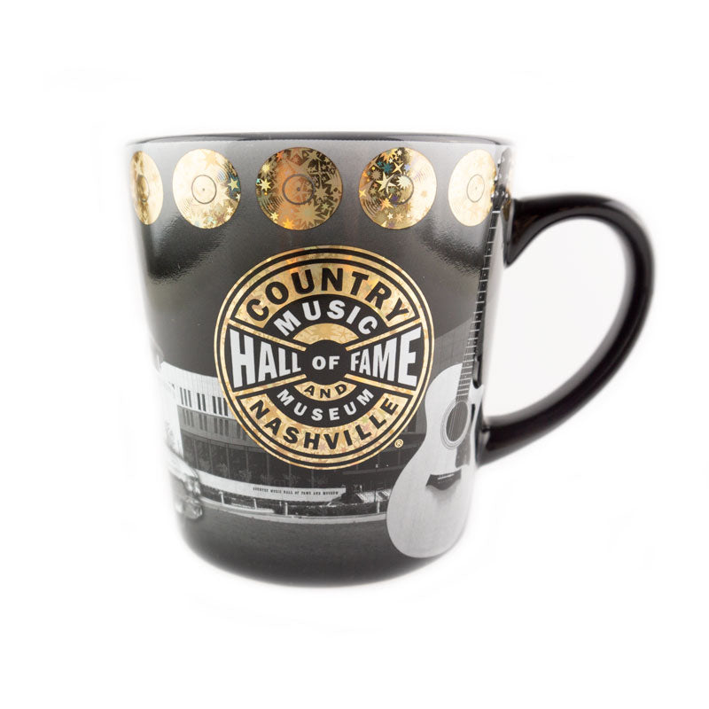 Black & White Metallic Taper Mug