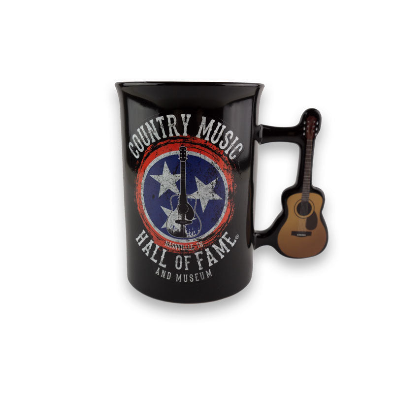 Tri-Star Guitar Handle Mug