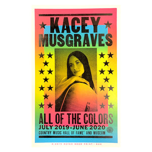 Kacey Musgraves: All of the Colors Exhibit Poster