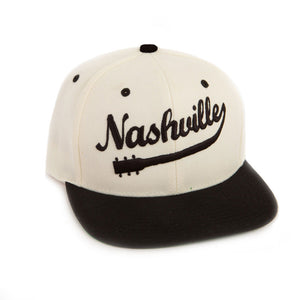 Natural & Black Snapback Baseball Hat