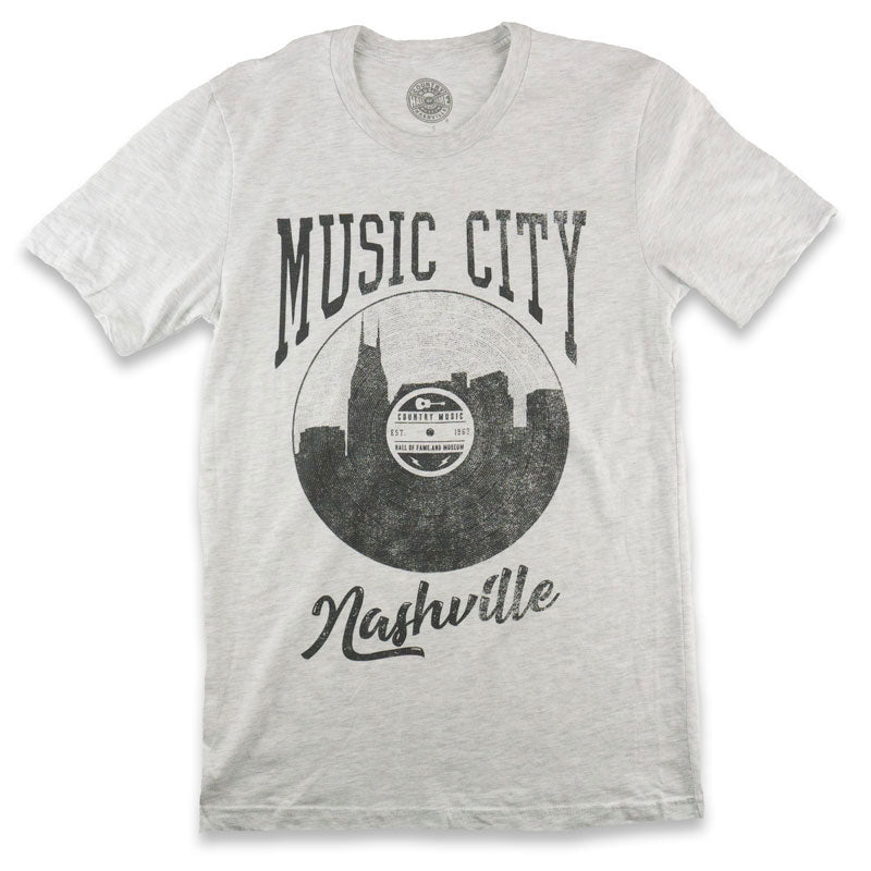 Music City Record Skyline T-Shirt