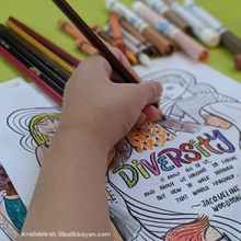 "Load image into Gallery viewer, ""Colors of Us"" A Coloring Book Inspiring Unity in Diversity"
