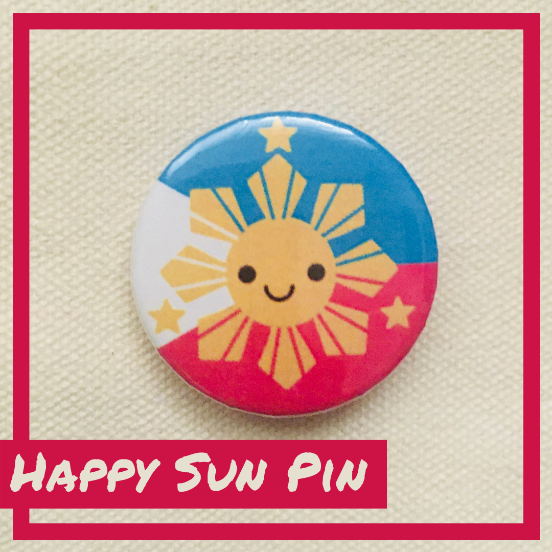 Happy Philippine Sun Pin