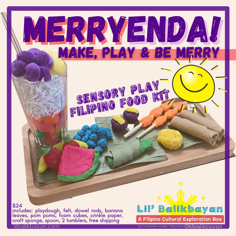 "Merryenda! ""Make, Play and Be Merry"" Sensory Play Filipino Food Kit"