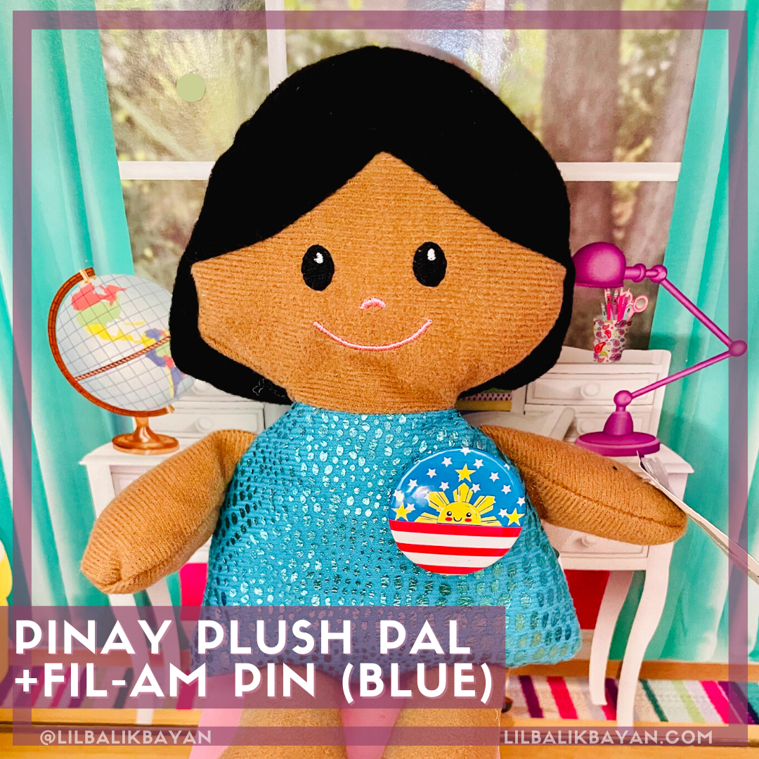 Blue Pinay Plush Pal + FilAm Pin