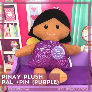 Purple Pinay Pal + Pinay for President Pin