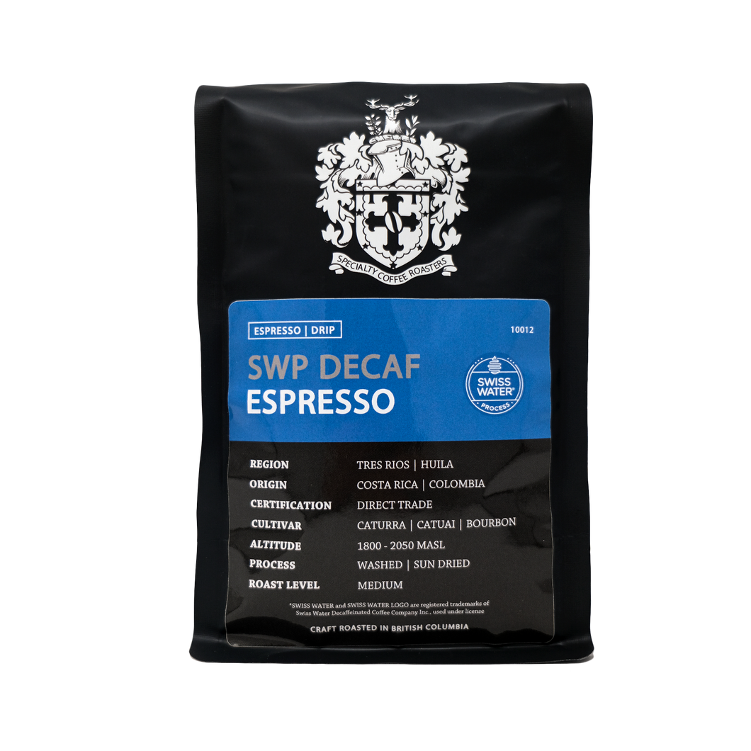SWP Decaf Espresso | 5 Time Golden Bean Medal Winner