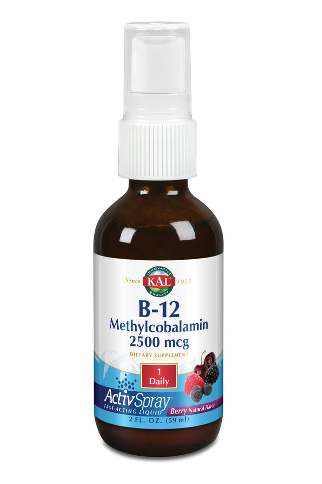 B-12 Methylcobalamin Liquid Spray - 2 fl. oz.