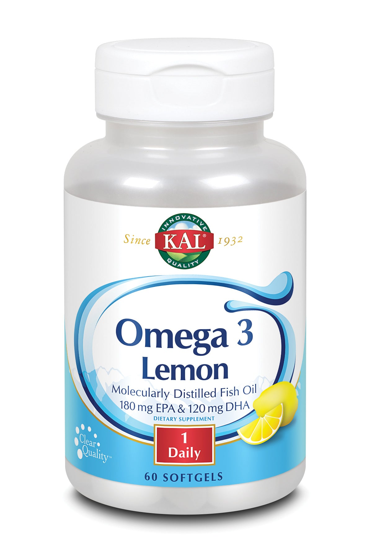 Omega 3 Lemon Softgels 1070mg 60ct - 60ct