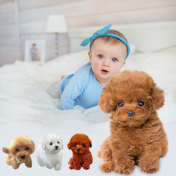 Realistic Teddy Dog Lucky мягкие игрушки reversible plush Handmade Realistic Figure Toy Dog Plush Stuffed Animal Toy Free Ship