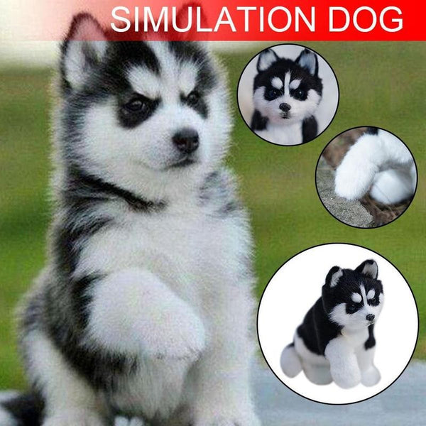 Realistic Husky Dog Simulation Toy Dog Puppy Stuffed Companion Toy Handcrafted Plush Stuffed Animal Simulation Toys