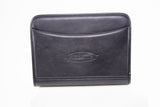 Allura Black Leather Zip Folder