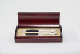 Ball Pen/Pencil Set in Wood Case