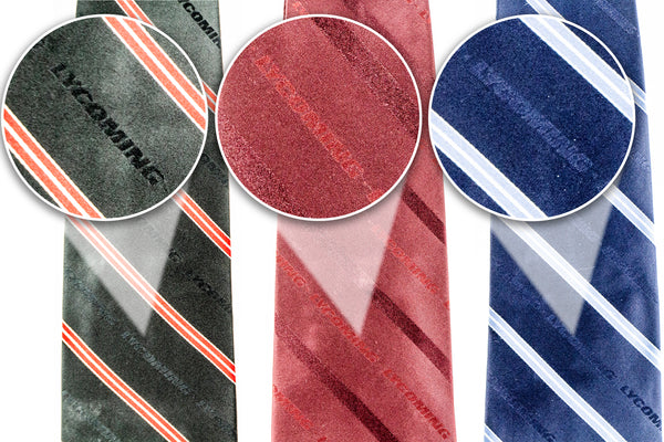 Silk Tie - Black/Red/White Strip