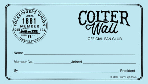 Official Membership Card