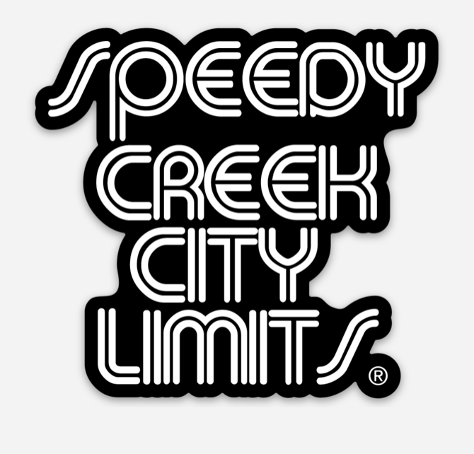 Speedy Creek City Limits Sticker