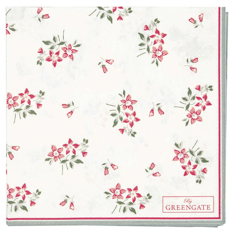 Greengate - Servietter Avery White - Small (20 stk) - NO1shop