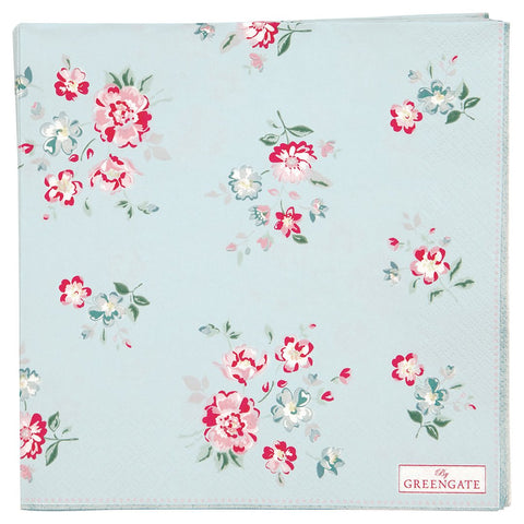 Greengate - Servietter Sonie Pale Blue - Large (20 stk) - NO1shop