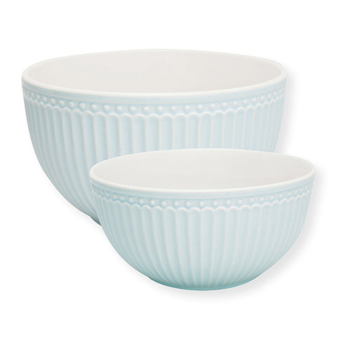 Greengate - Serving Bowl Alice Pale Blue (Sæt af 2) - NO1shop