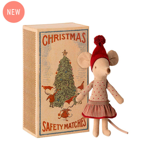 Maileg - Christmas Mouse In Box - Big Sister (17 cm)