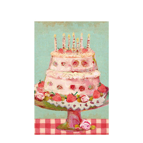 Maileg -  BIRTHDAY CAKE, SINGLE CARD (11 cm)