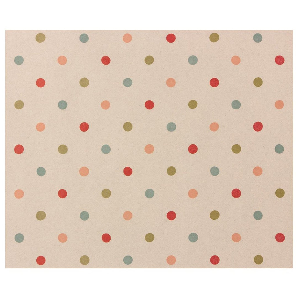 Maileg - GAVEPAPIR, MULTI DOTS - 10 M - NO1shop