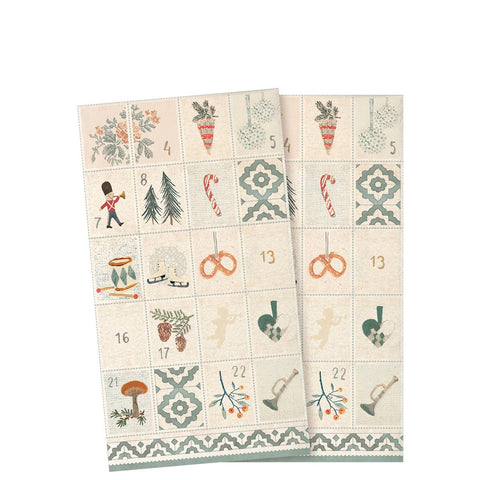 Maileg -  NAPKIN, DAYS OF DECEMBER - 16 stk (20 cm)