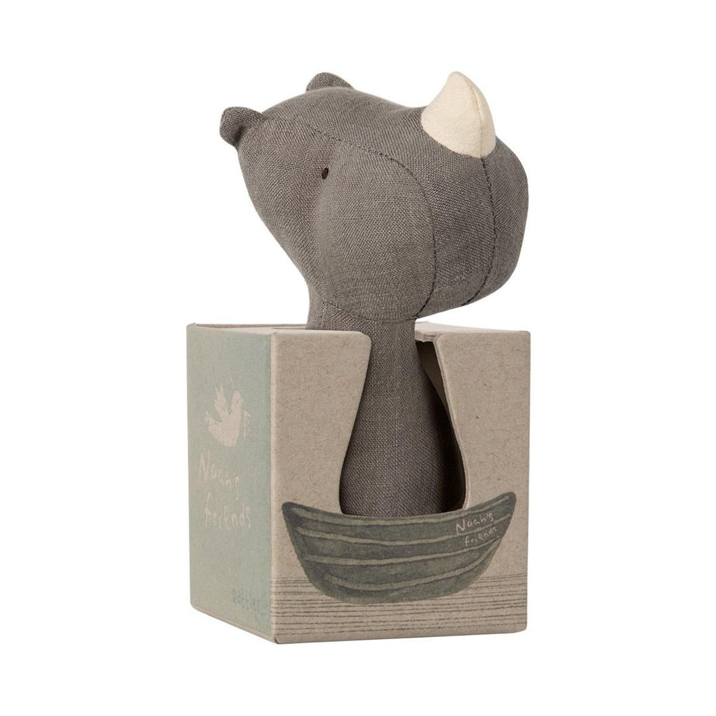 Maileg - Næsehorn Rattle, Noah´s Friends (12 cm) - NO1shop