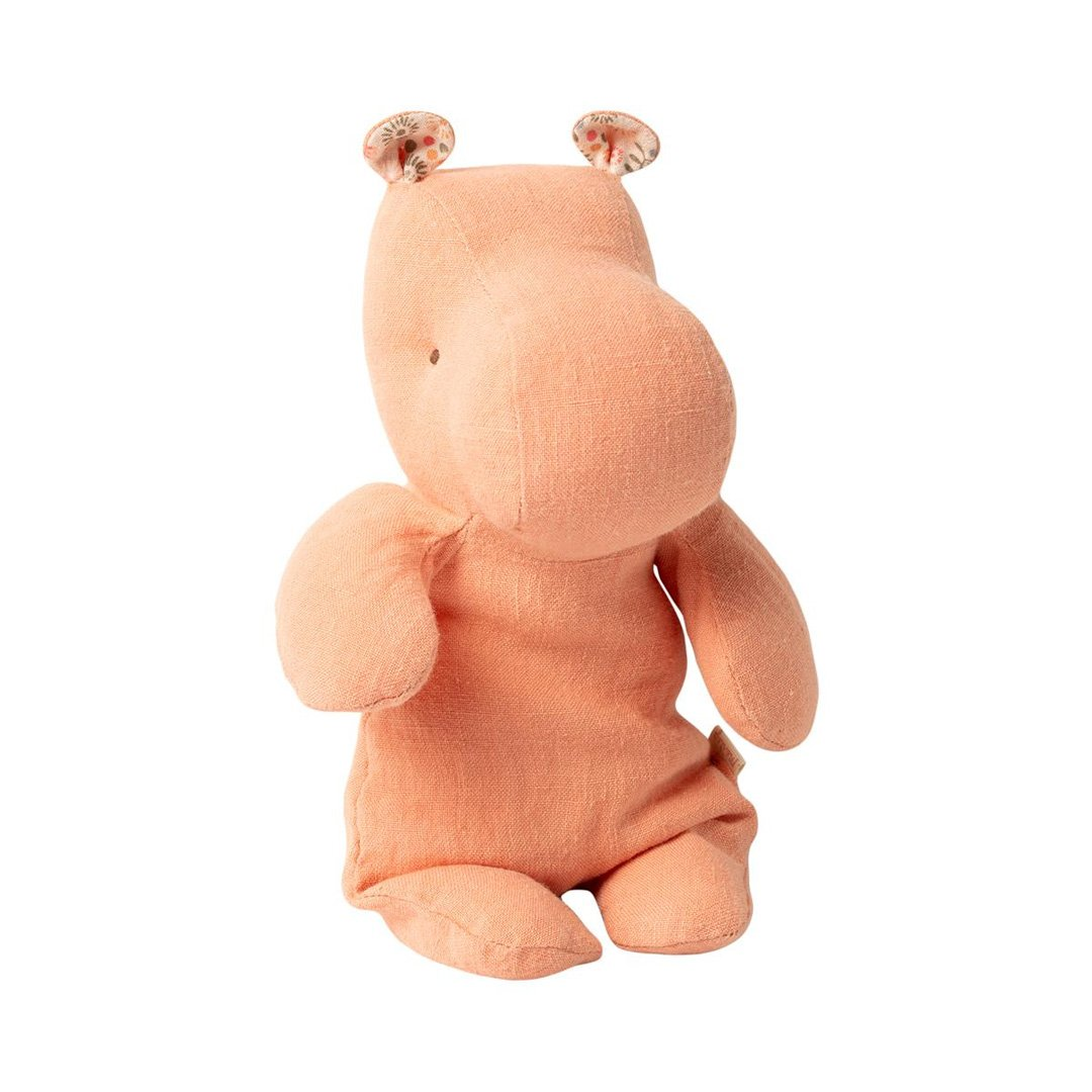 Maileg - Lille Flodhest, Safari Friends - Apricot (22 cm) - NO1shop