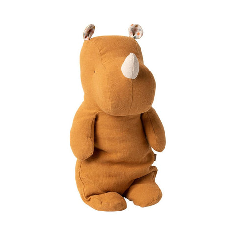Maileg - Medium Næsehorn, Safari Friends - Ocher (34 cm)