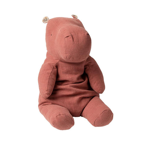 Maileg - Big Hippo, Safari Friends - Dusty Plum (60 cm)