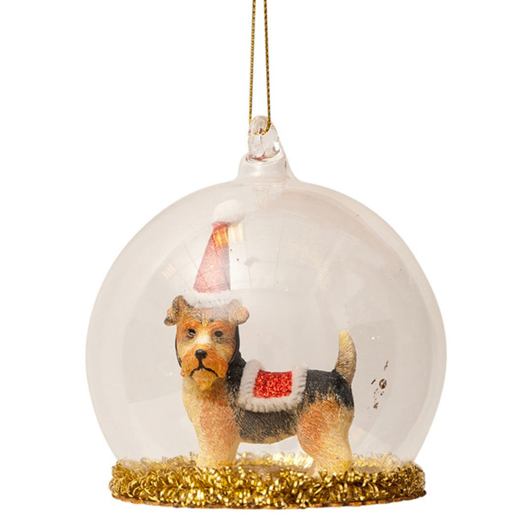 Vondels - Juleornament - Hund I Glaskugle - NO1shop