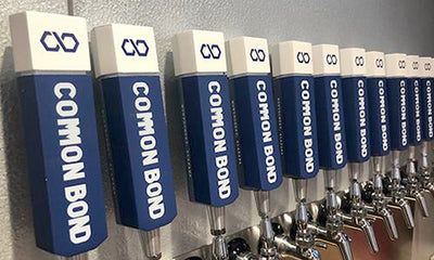 Common Bond tap handles on display