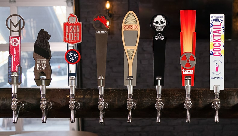 Custom Tap Handles Made in America by Steel City Tap Co.