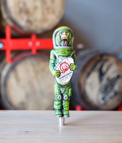 Straight To Ale Monkeynaut Beer Tap Handle Resin Hand Painted Made in America