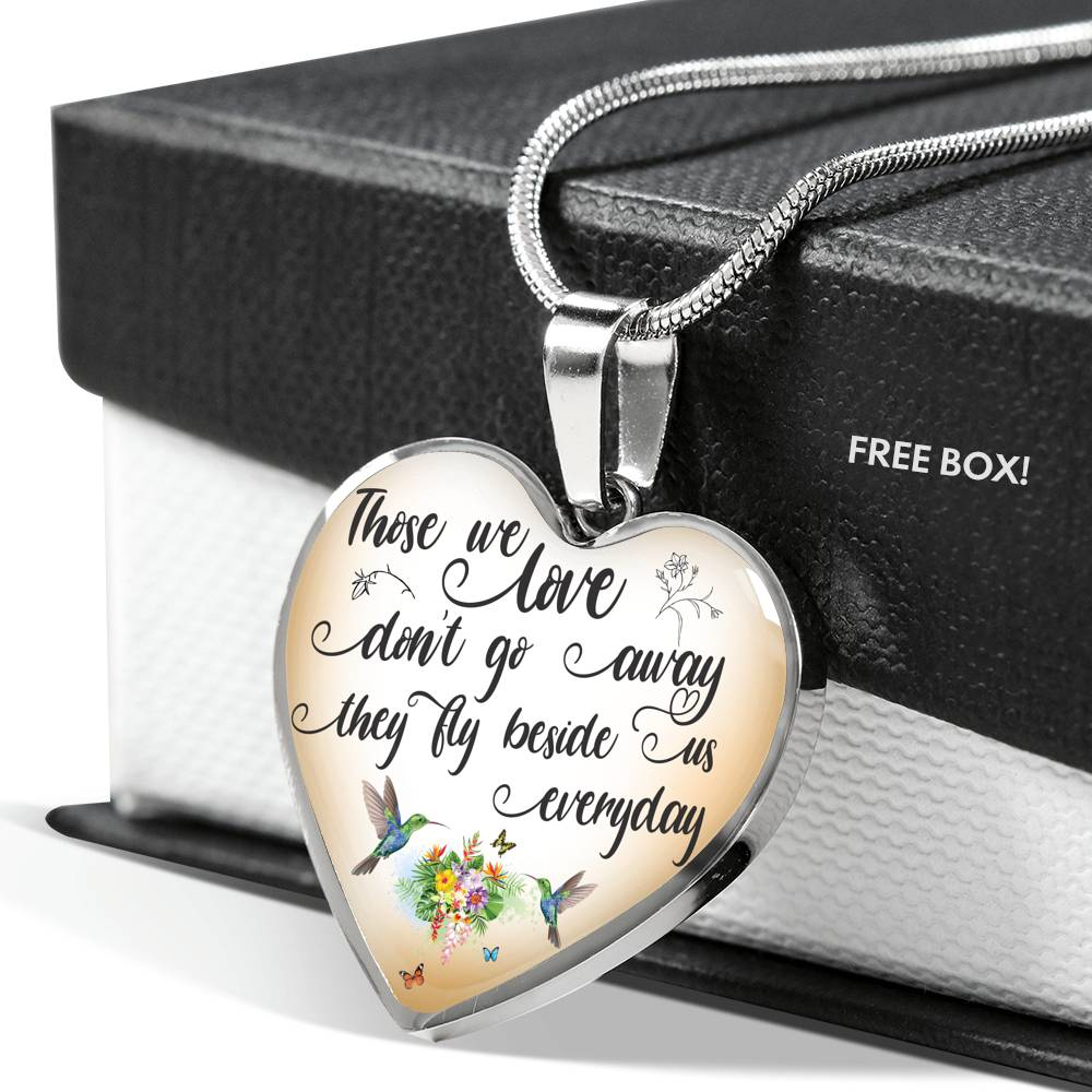 Customizable Hummingbird 'Those We Love' Luxury Necklace