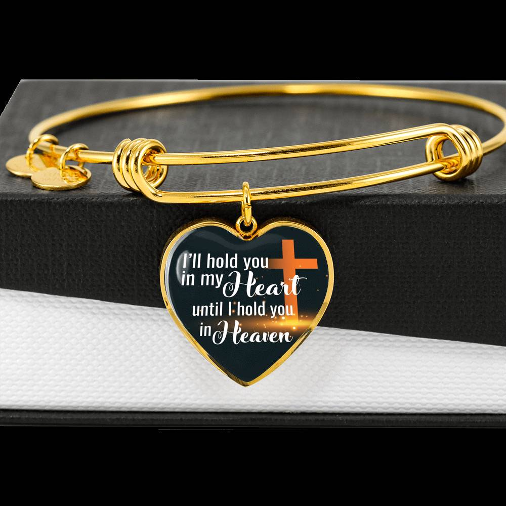 Customizable 'I'll Hold You In My Heart' Luxury Bangle