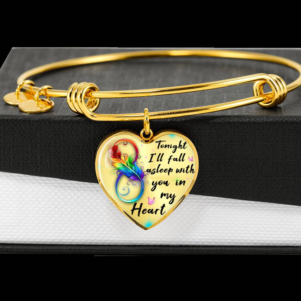 Customizable 'Tonight I'll Fall Asleep' Luxury Bangle