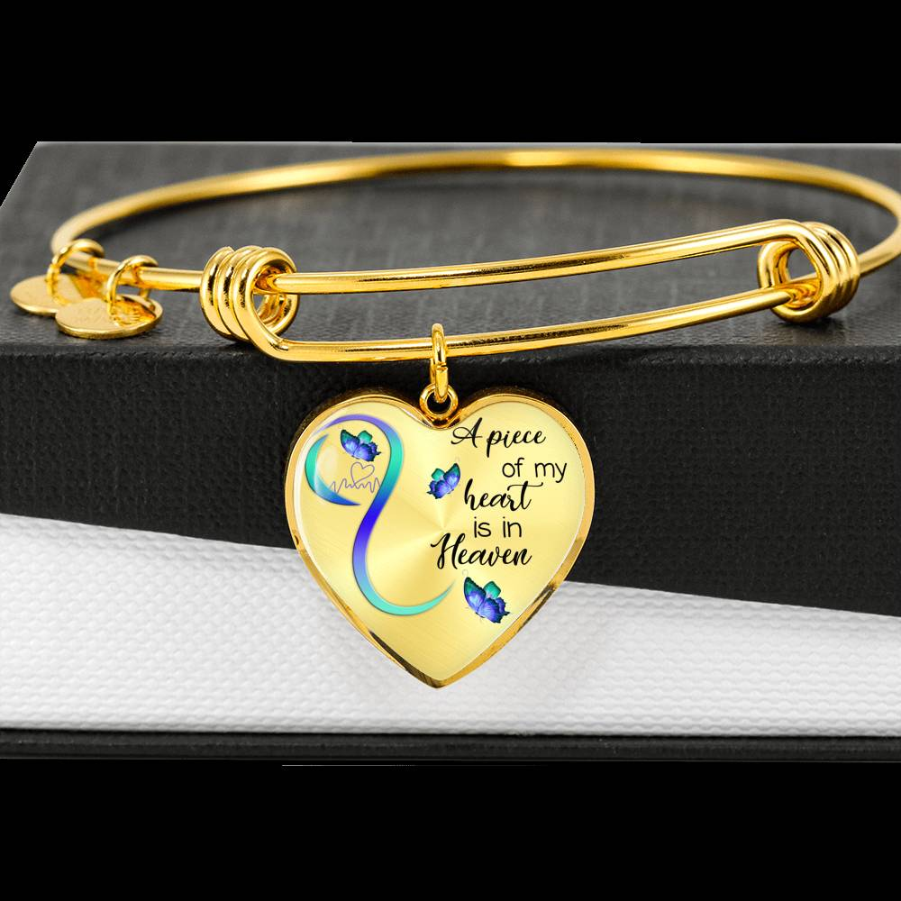 Customizable Butterfly 'A Piece Of My Heart' Luxury Bangle