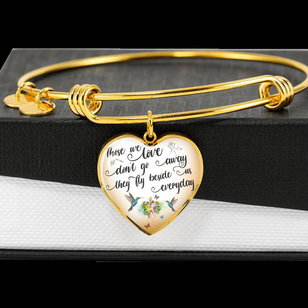 Customizable Hummingbird 'Those We Love' Luxury Bangle