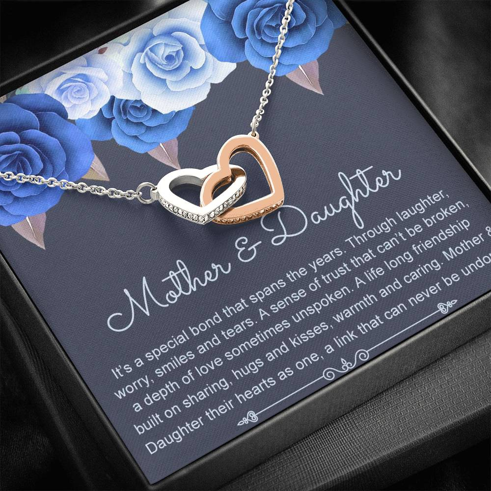 """Mother & Daughter"" Interlocking Hearts Necklace Gift Set - Lola Gems - 1"