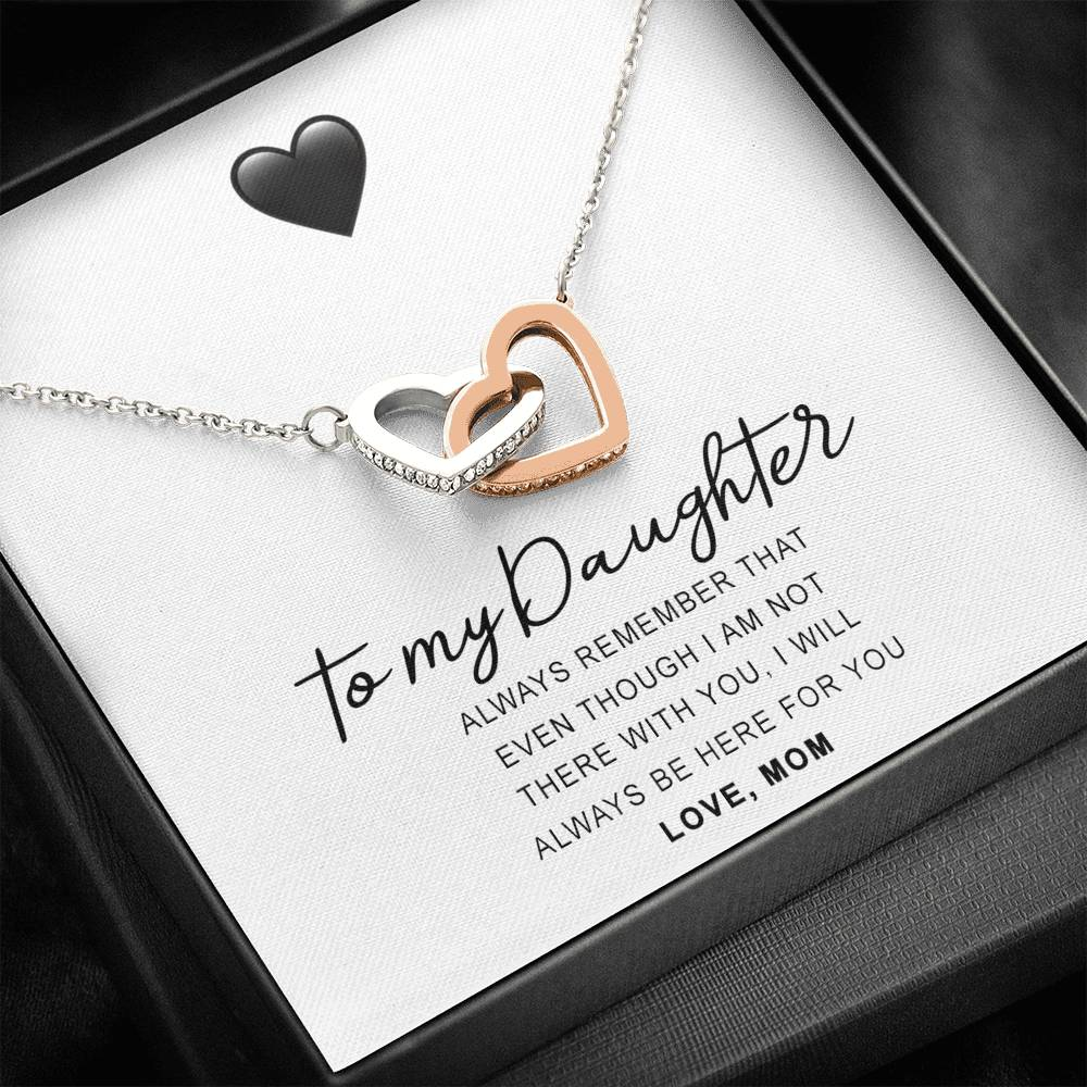 'Always Remember' Joined Hearts Pendant Necklace Gift Set