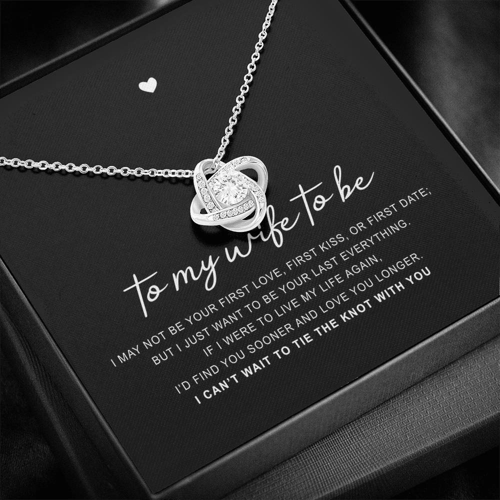 "14k White Gold ""My Wife To Be"" Luxury Necklace Gift Set"