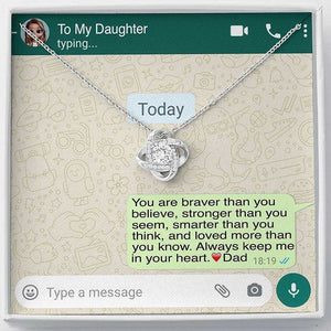 'To My Daughter, Love Dad' Luxury Necklace Gift Set - Lola Gems - 1