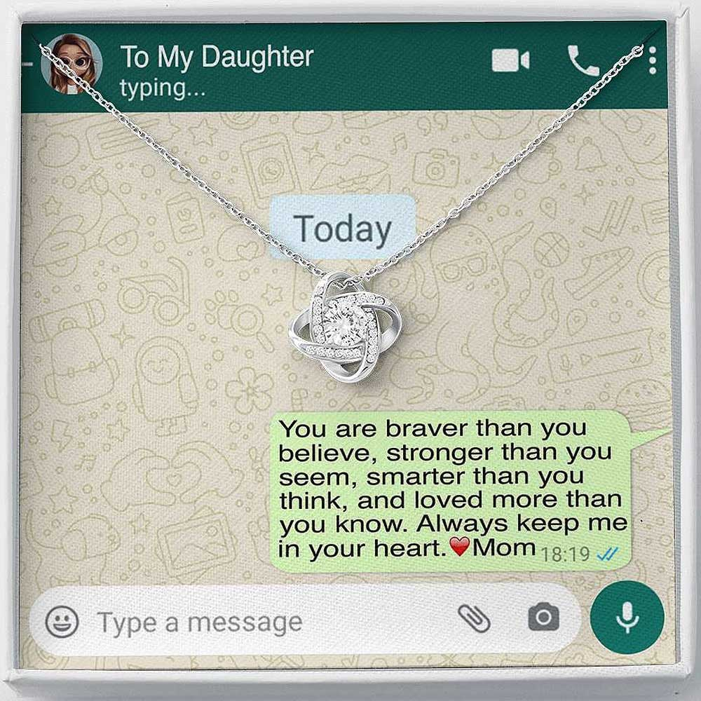 'To My Daughter, Love Mom' Luxury Necklace Gift Set - Lola Gems - 1