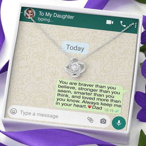 'To My Daughter, Love Dad' Luxury Necklace Gift Set - Lola Gems - 3