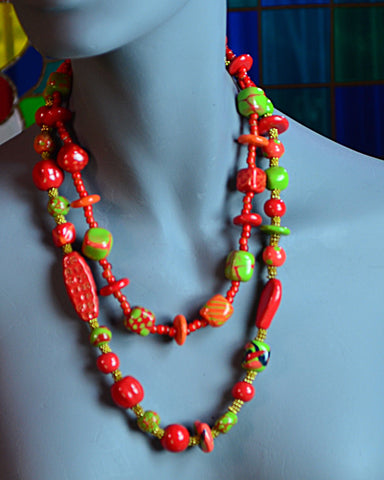Kazuri necklaces double strand